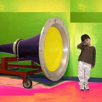 Megaphone and Child