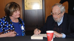 The author with Dr. Schein (right).